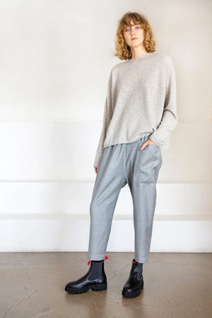 PUNCH superfine wool pant, silver melange