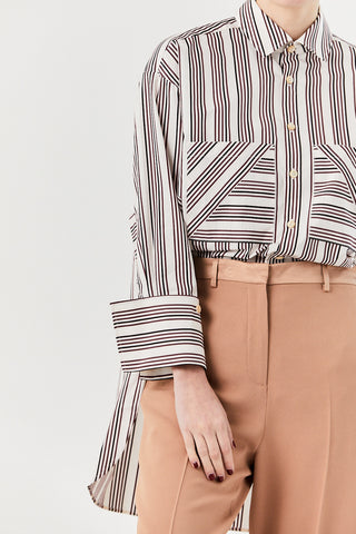 Boyfriend Shirt, Berry Stripe