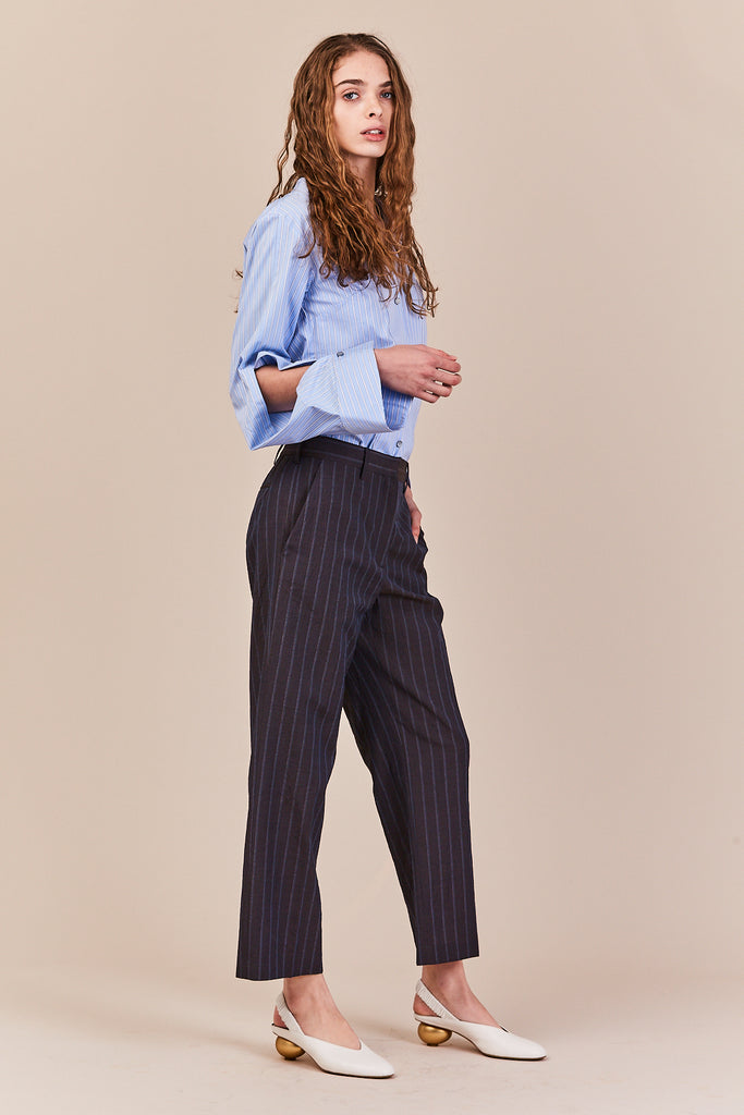 disjointed sleeve shirt, striped