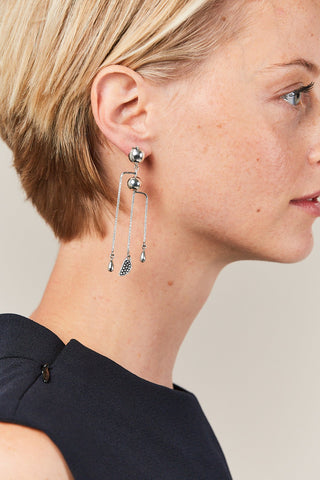 Hera Mobile earrings, SILVER