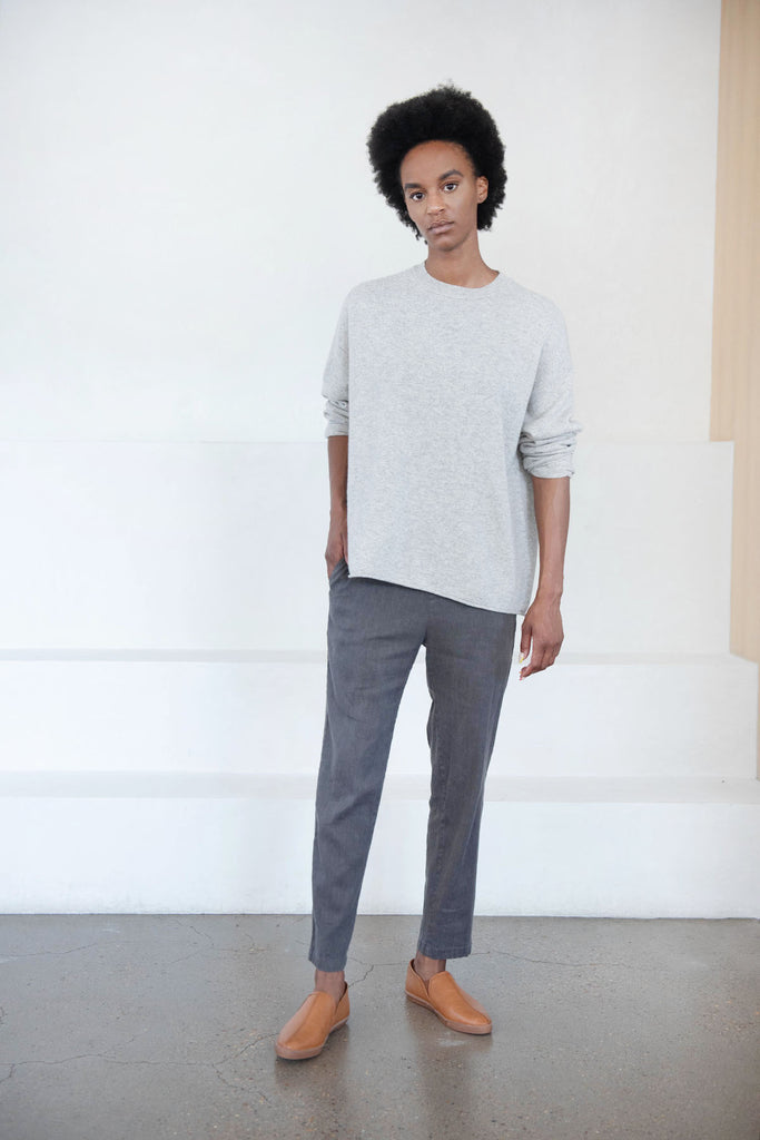 pull on pant, charcoal