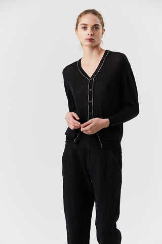 Pocket Cardigan, Black