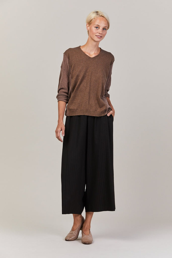 Contrast panel long sleeve, Mocha