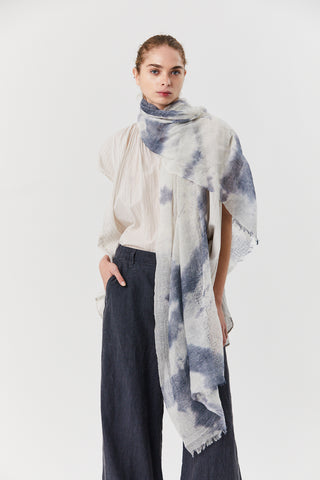Dye Scarf, Blue-grey