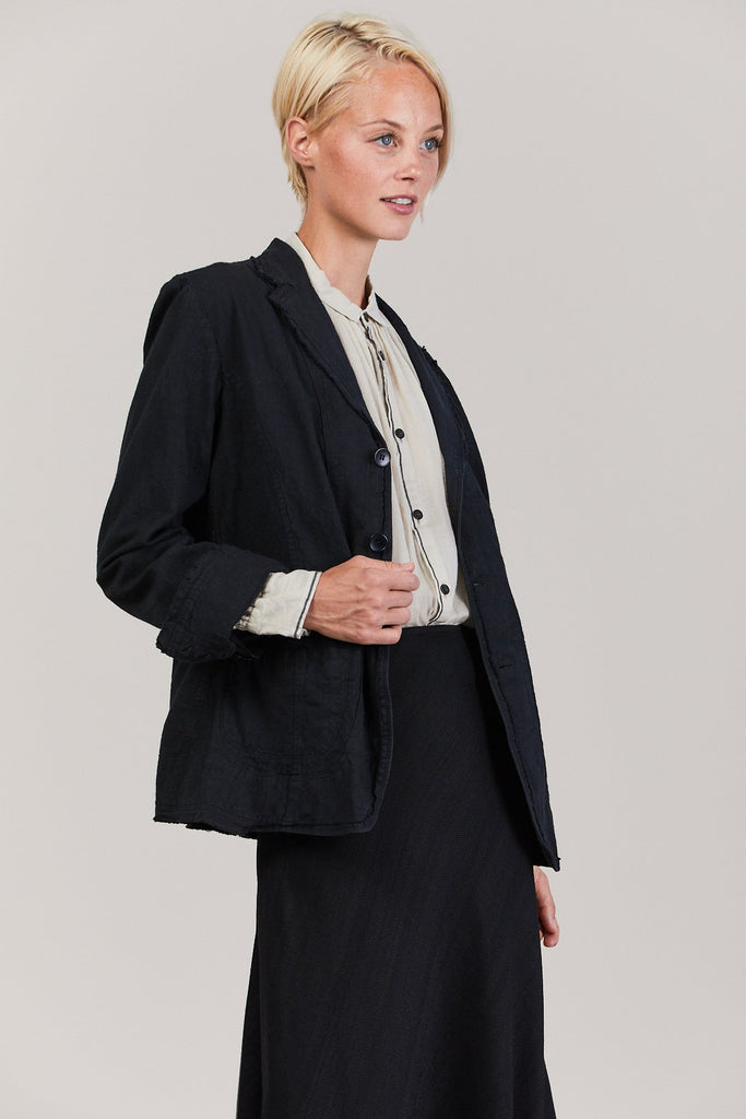 Hemp Blazer, Black