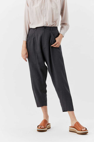 Linen Pocket Pant, Grey