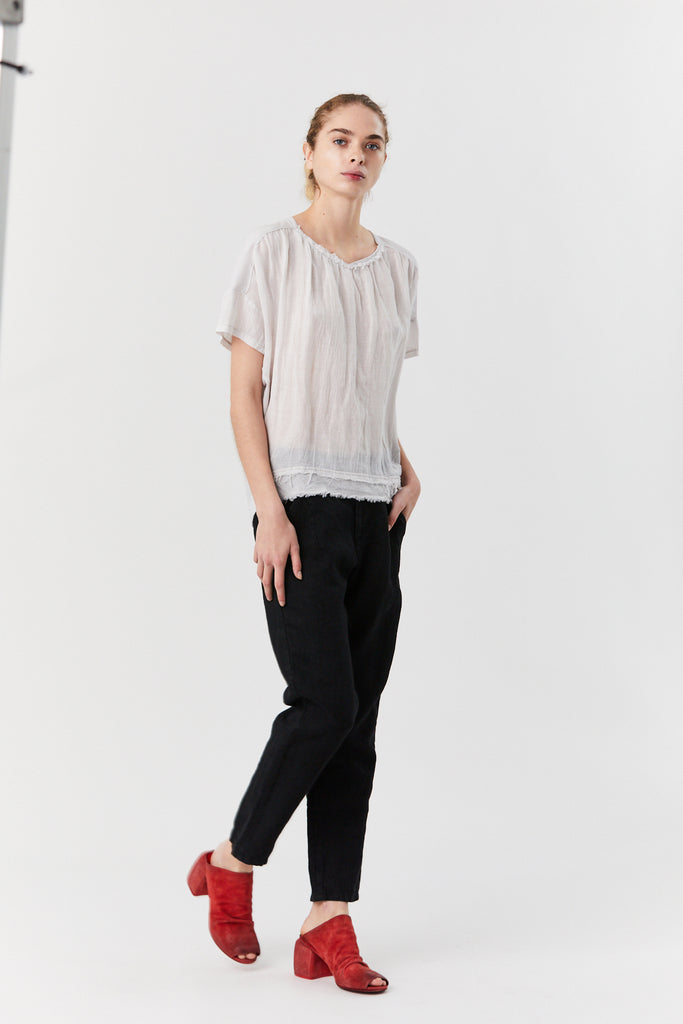 pas de calais - Bamboo Pullover Blouse, Light Grey