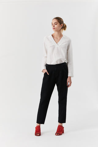 Side Buckle Pant, Black