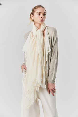Solid Scarf, Cream