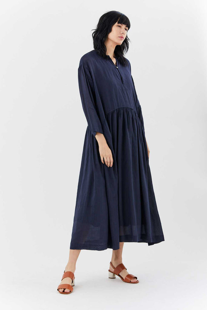 pas de calais - Stitch Dress, Navy