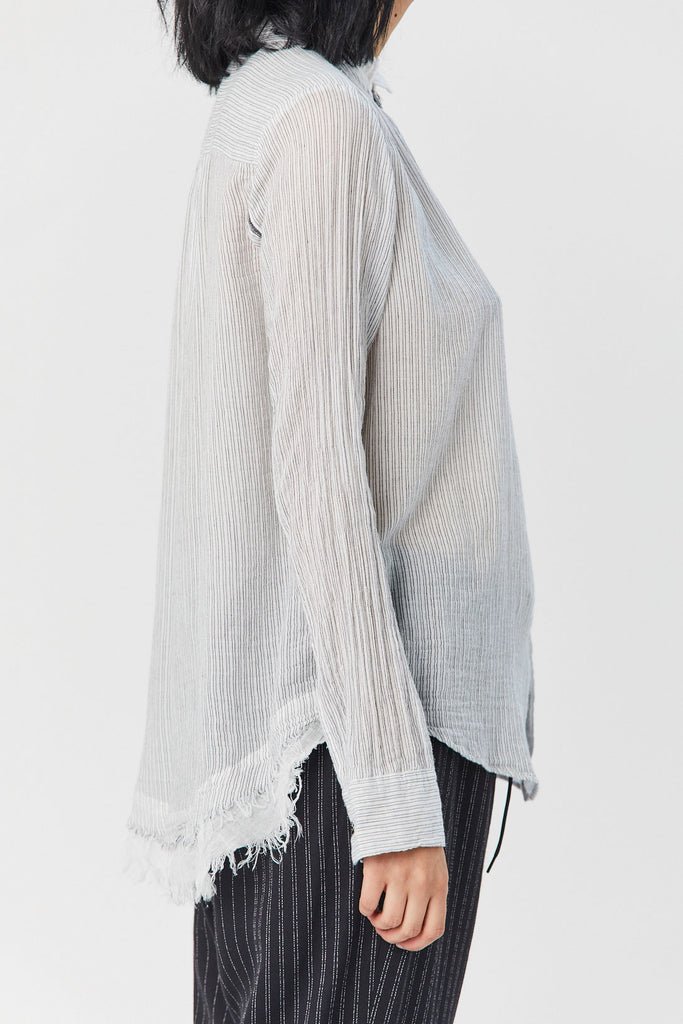 pas de calais - Striped Blouse, White