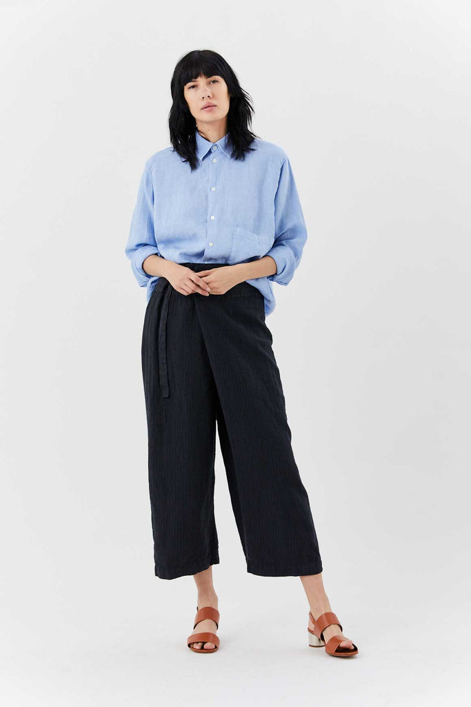 Tie Waist Pant, Charcoal