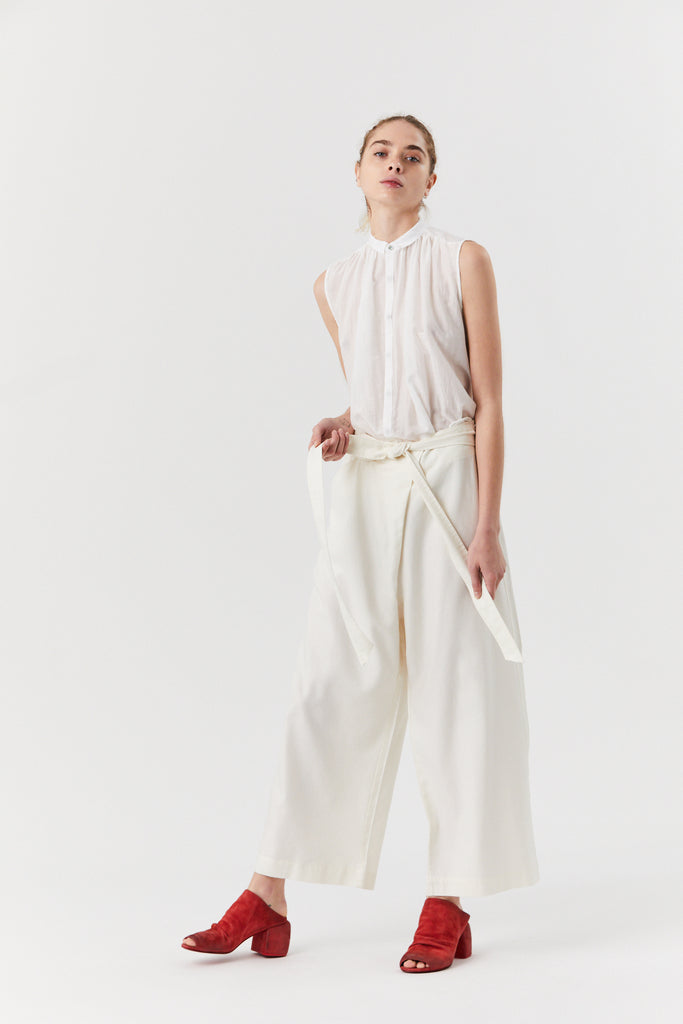 Tie Waist Pant, Off White