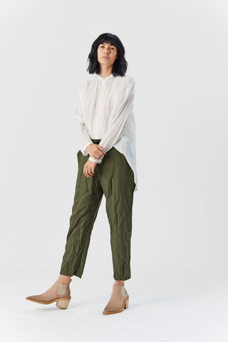 Cropped Trouser, Green