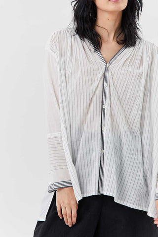 V-Neck Blouse, White
