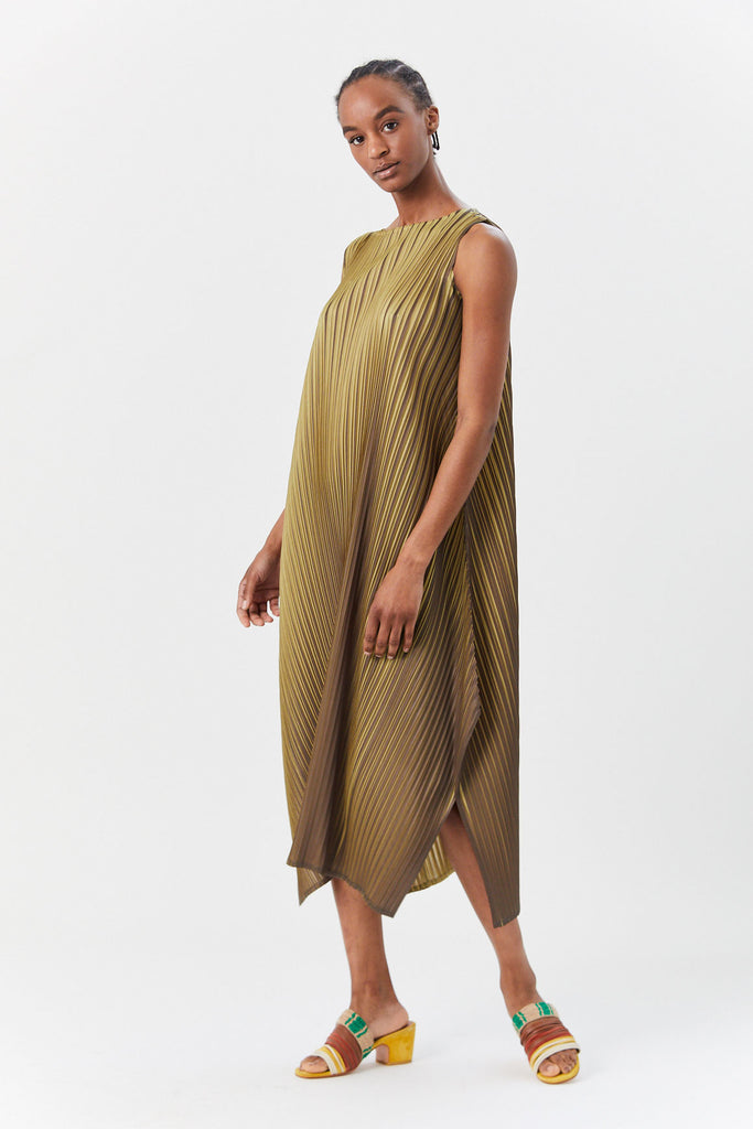 Pleats Please by Issey Miyake - Alt Reflection Dress, Olive