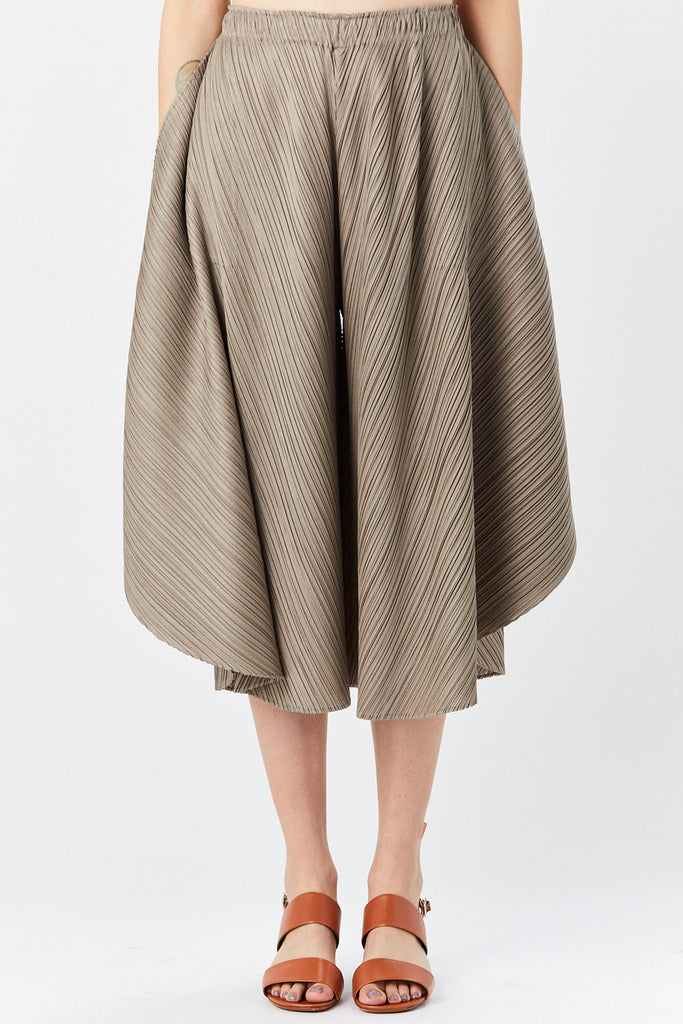 Pleats Please by Issey Miyake - Curved Trouser, Ash Grey