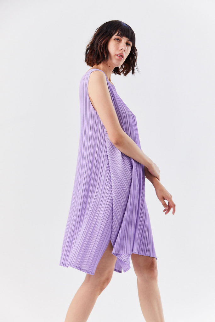 Pleats Please by Issey Miyake - Pleated Dress, Lavender