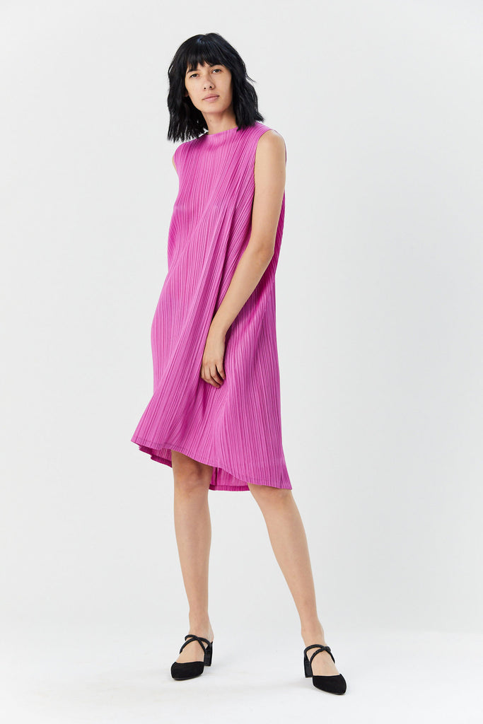 Pleats Please by Issey Miyake - Pleated Dress, Pink