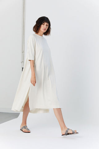 Easy Tee Dress, White