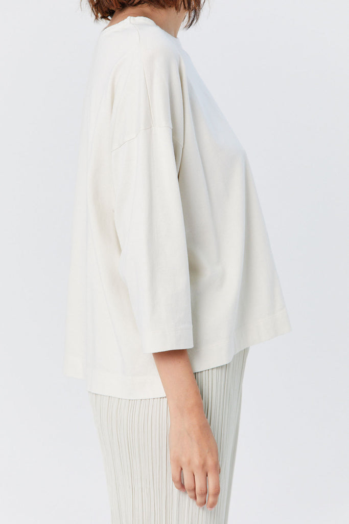 Pleats Please by Issey Miyake - Easy Tee, White