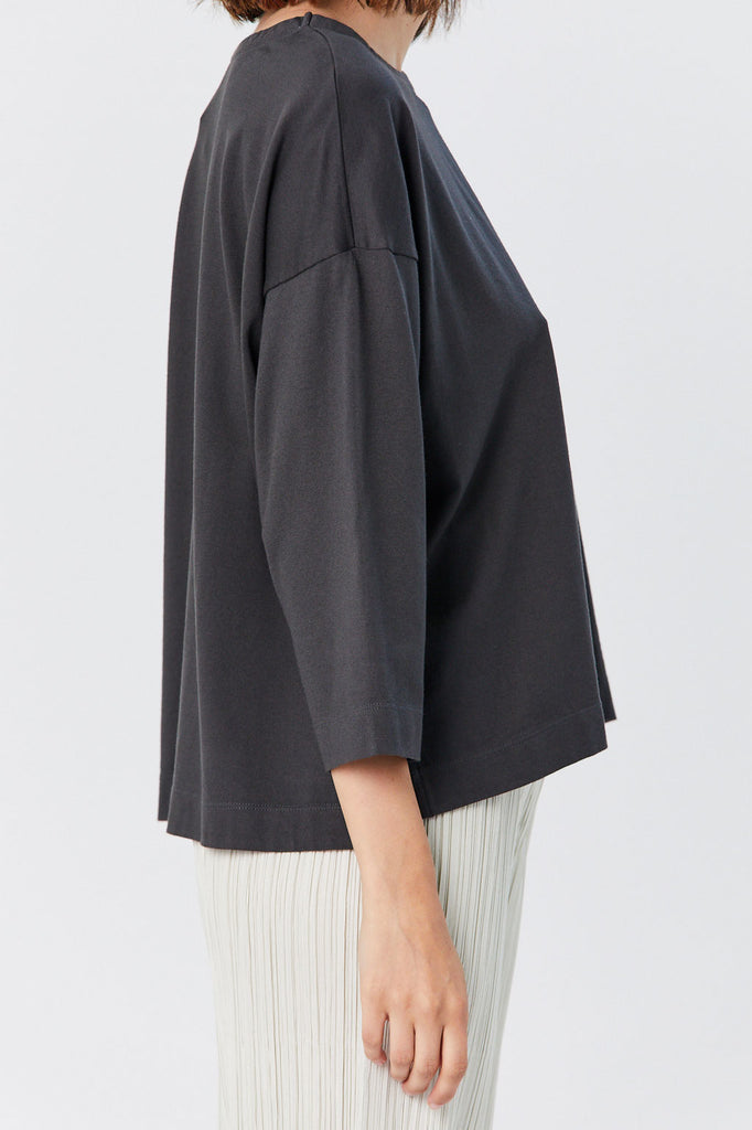 Pleats Please by Issey Miyake - Easy Tee, Black