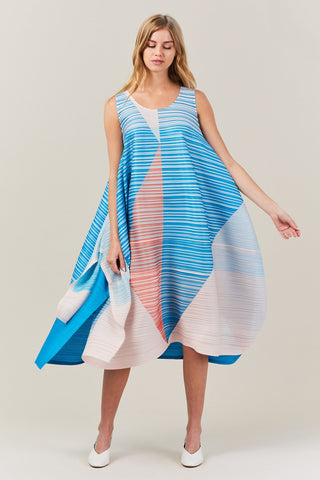 flag dress, ocean blue