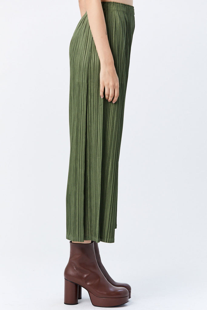 Pleats Please by Issey Miyake - Mellow Pleats Pant, Green