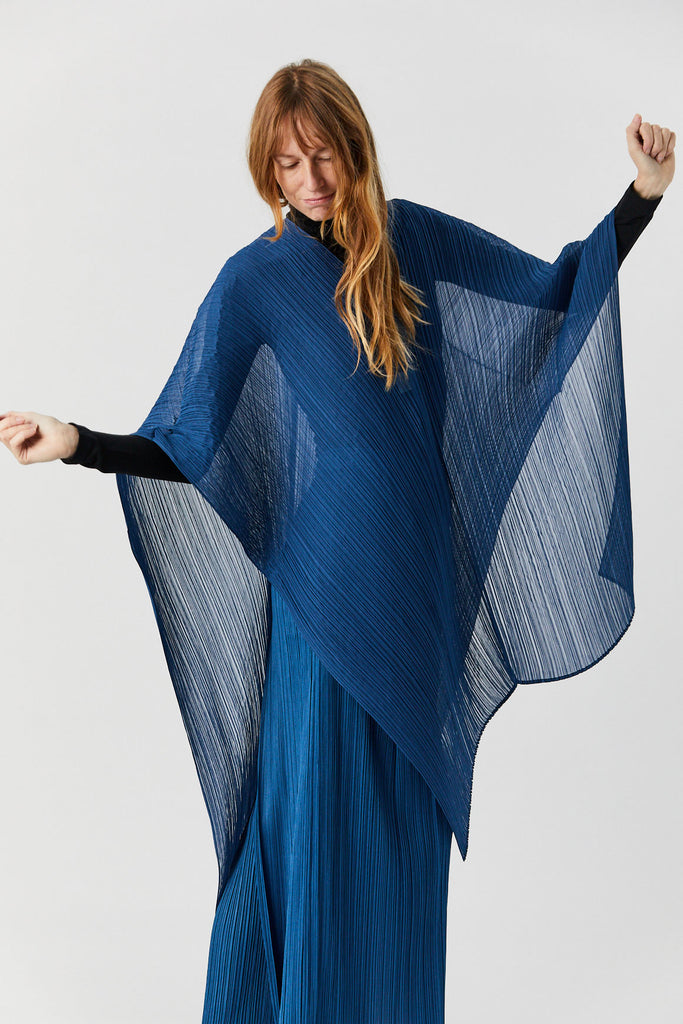 Pleats Please by Issey Miyake - Madame T Scarf, Cerulean