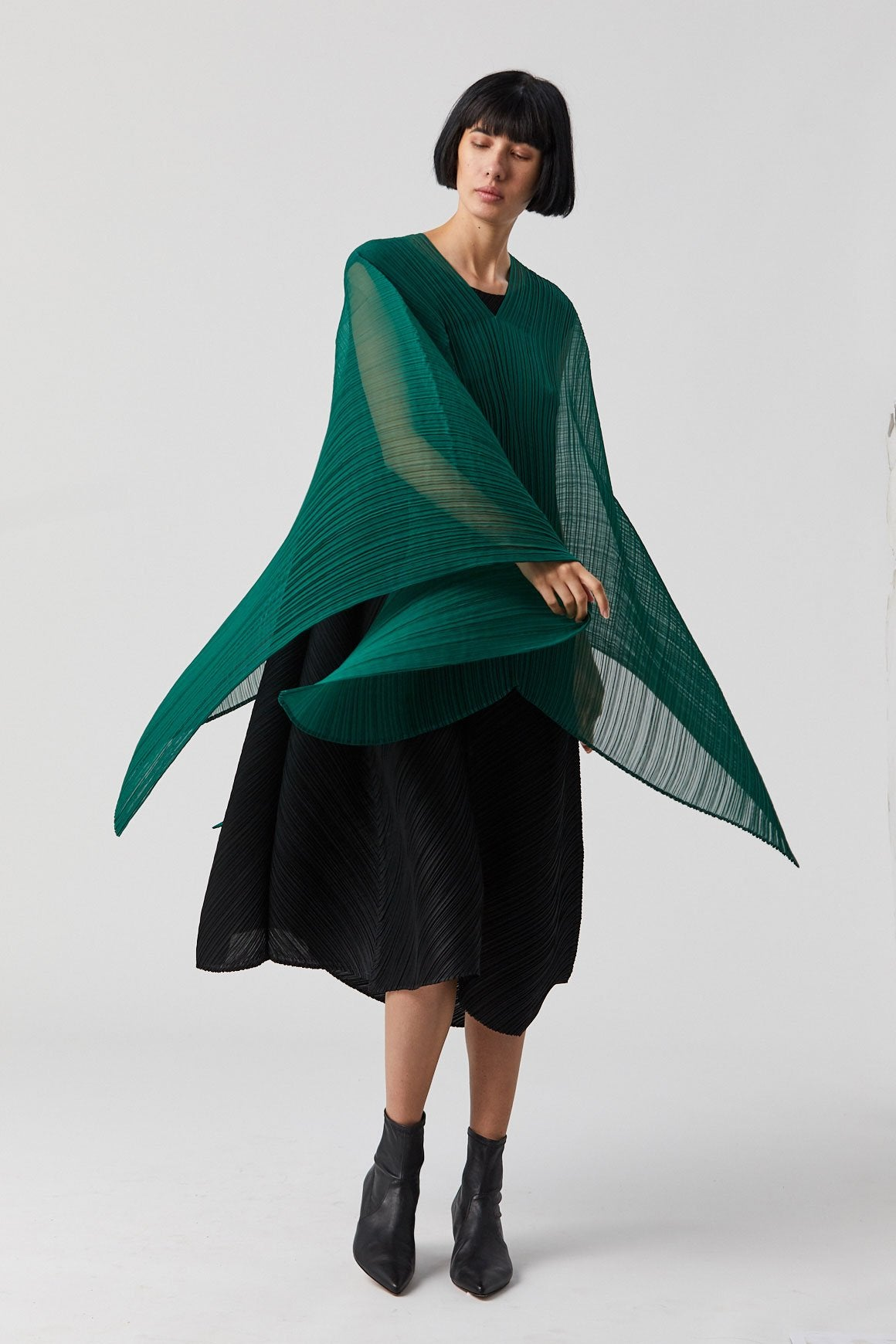 Pleats Please by Issey Miyake - Madame T Scarf, Green