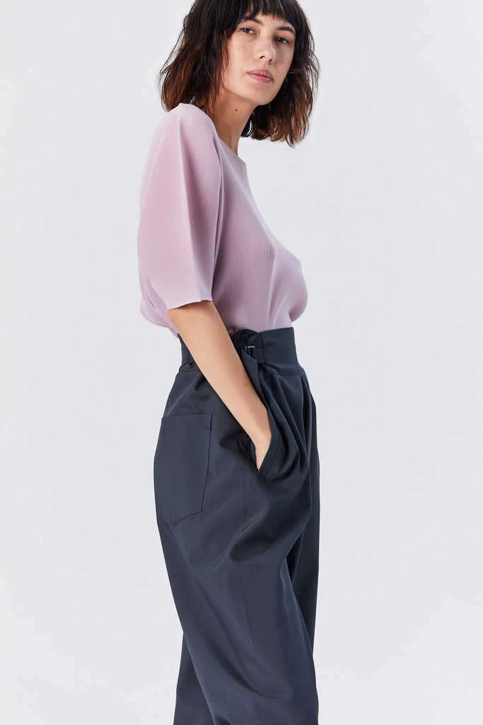 Pleats Please by Issey Miyake - Mist Short Sleeve Top, Mauve