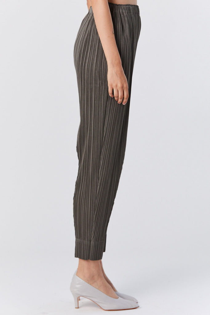 Pleats Please by Issey Miyake - Pleated Pants, Olive