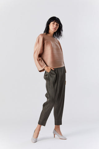 Pleated Pants, Olive