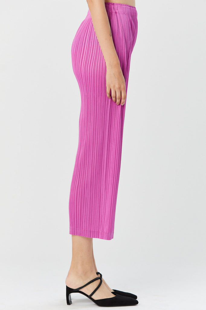 Pleats Please by Issey Miyake - Pleated Pants, Pink