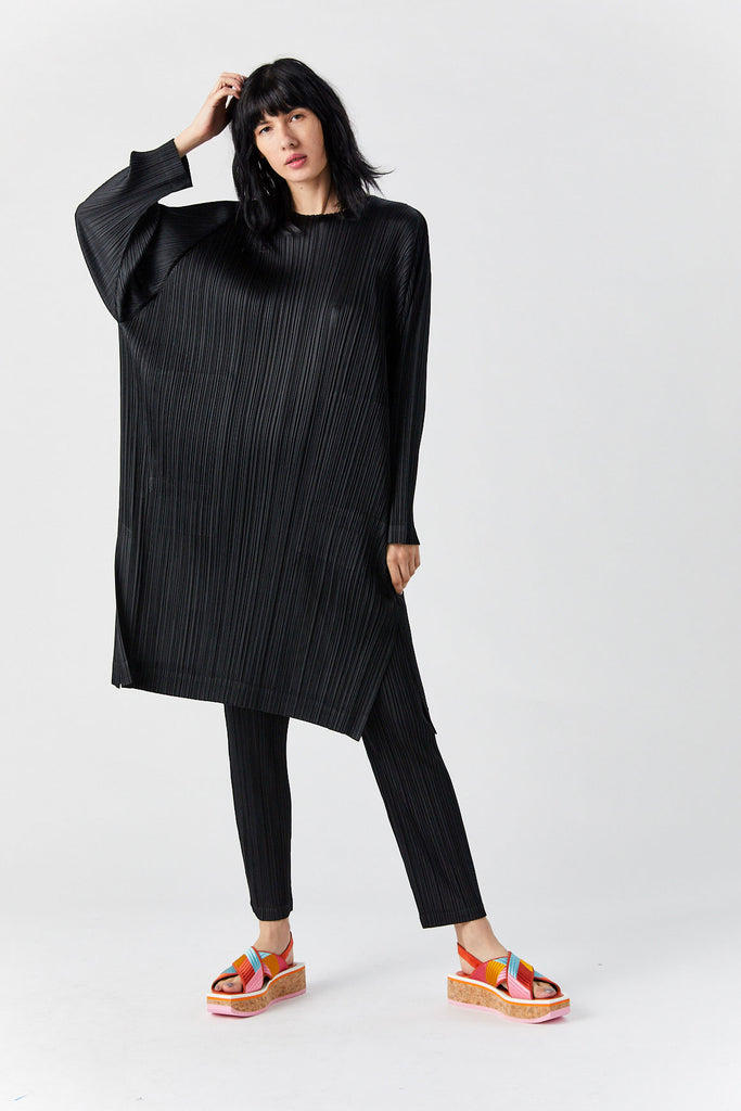 Pleated Tunic, Black