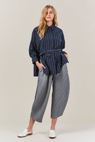 pleated pant, GRAY