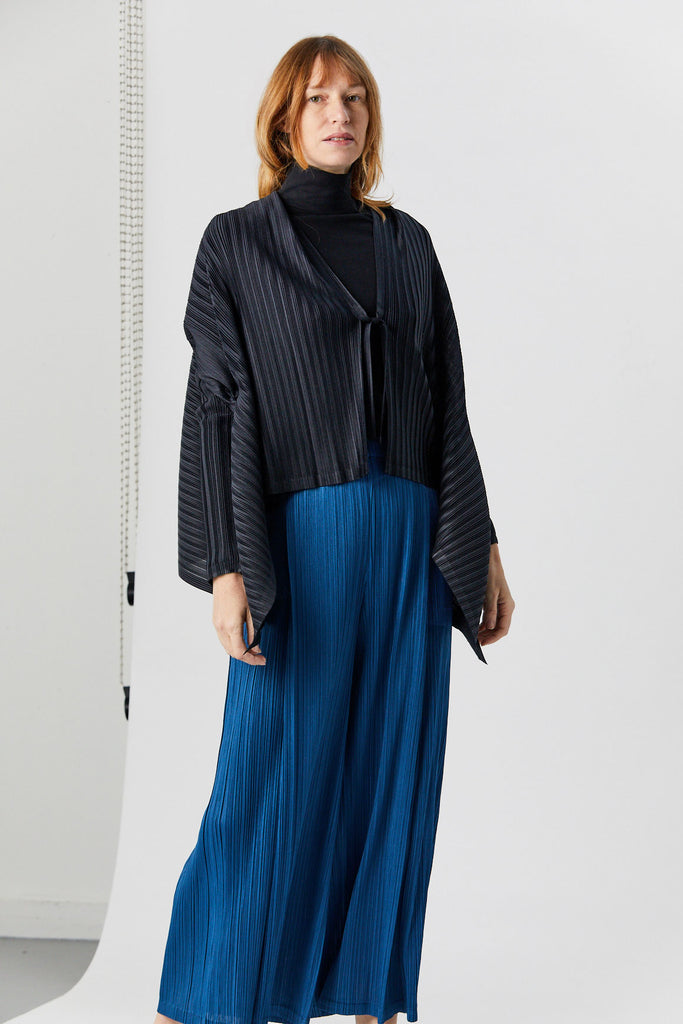 Pleats Please by Issey Miyake - Cardigan, Dark Navy