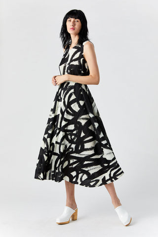 Spin Dress, Black & White