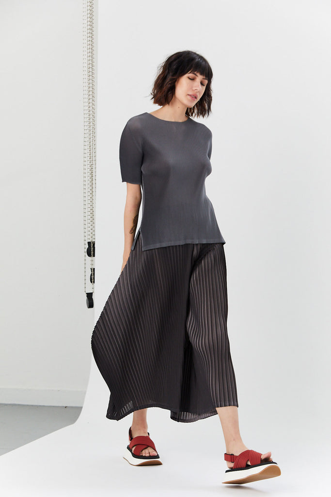 Pleated Tunic, Gray
