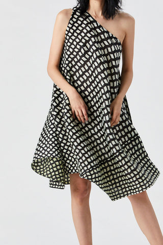 Step Dress, Black & White