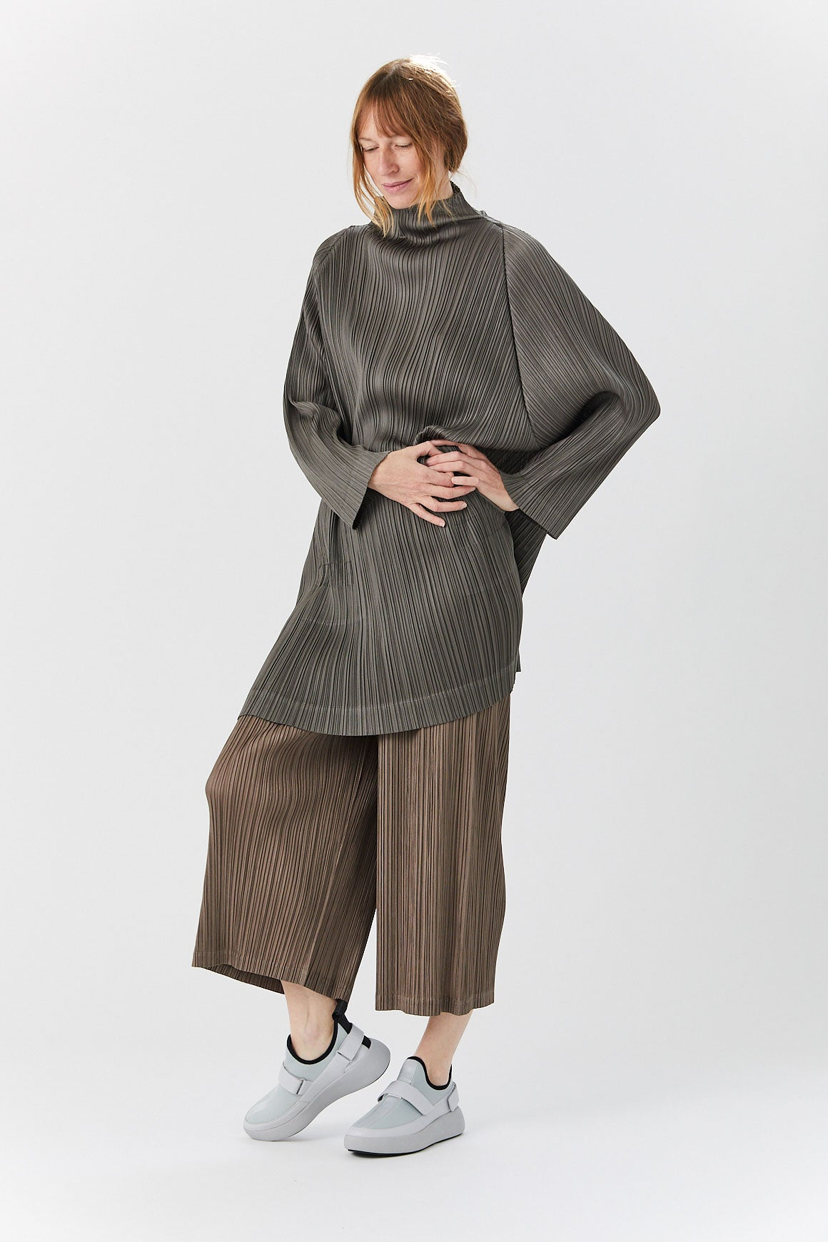 Pleats Please by Issey Miyake - Thicker Bottom Pant, Olive Grey