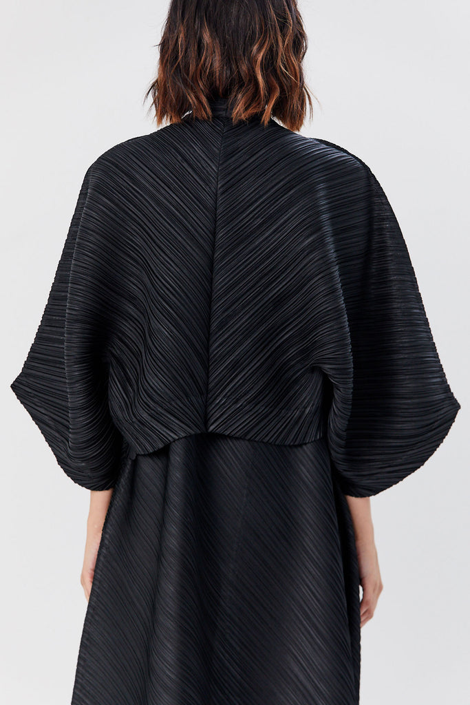 Pleats Please by Issey Miyake - Triangle Cut Jacket, Black