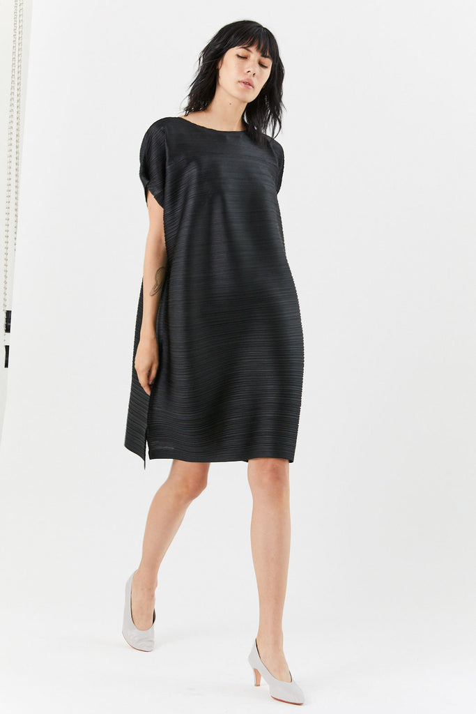 Pleats Please by Issey Miyake - Tucked Bounce Dress, Black
