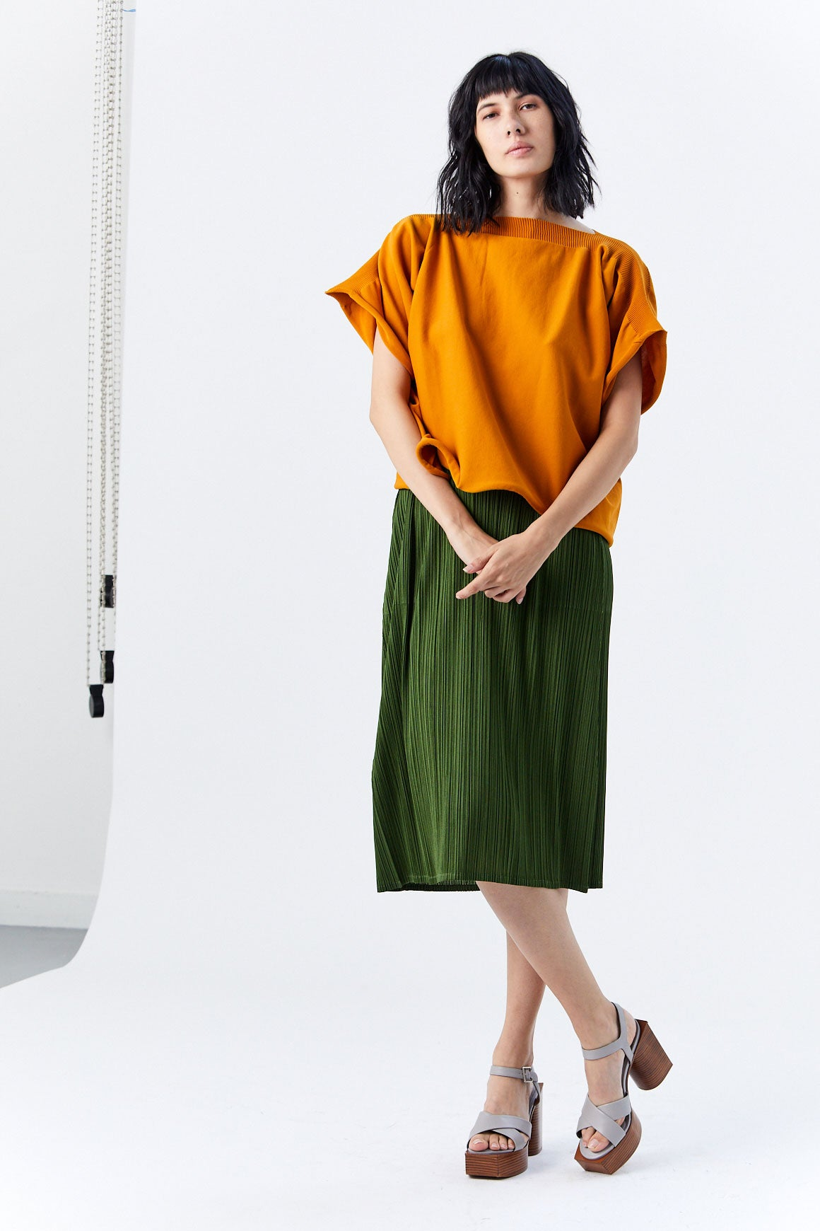 Pleats Please by Issey Miyake - Yeah Knit Top, Tumeric