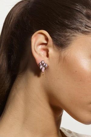 Nakard by Nak Armstrong - prawn opal studs, pink