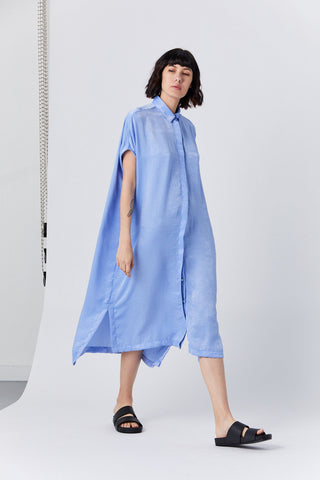 Placket Dress, Cinderella Blue