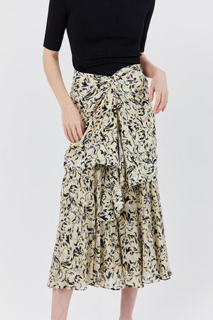 PROENZA - Abstract Animal Print Skirt, Butter