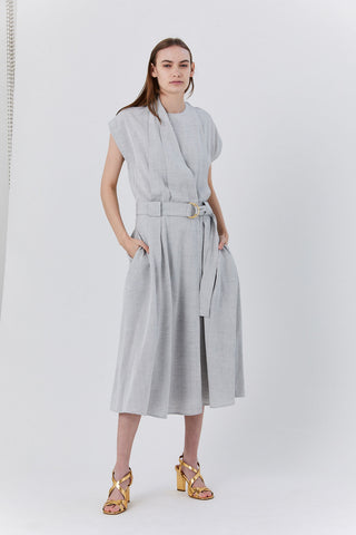 Wrap Dress, Grey Melange