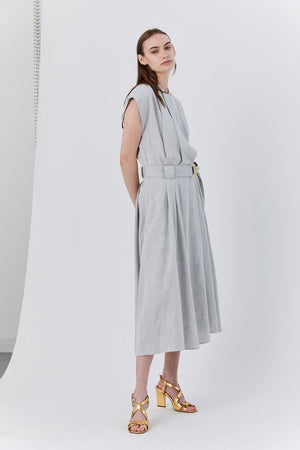 Proenza - Wrap Dress, Grey Melange