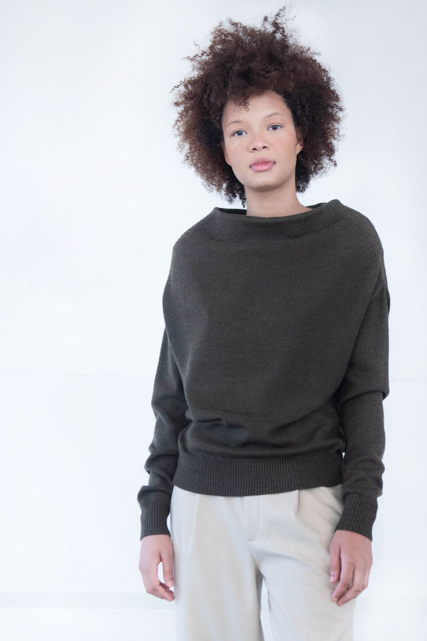 proenza schouler - merino off shoulder sweater, Fatigue